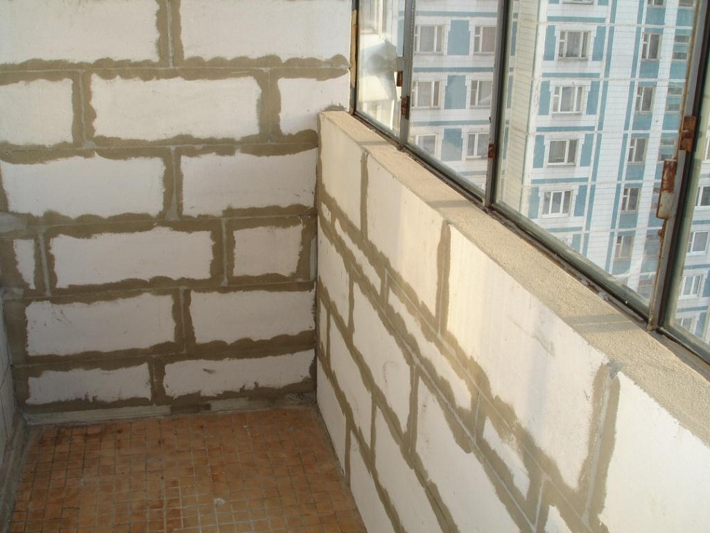 Утепление балкона пеноблоками, цены на утепление лоджии пено.
